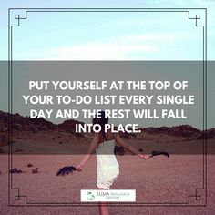 Put yourself at the top of your to-do list. (y) #wellness #healthiswealth #quotes #inspiration #stayhealthy #wellbeing
