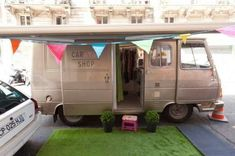 The Caravan Shop - a Boutique on Wheels. This shop is a caravan transformed in a moving store, complete with a fitting room. It's a great idea because it's much cheaper than a normal shop to own and it allows to change the location every time.