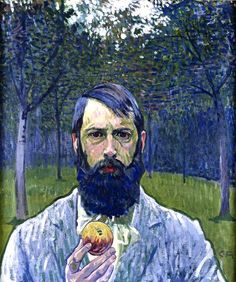 Cuno Amiet (1868-1961)- Self Portrait with Apple, 1903