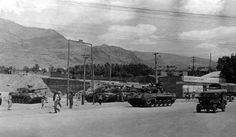 Military vehicles of Iranian Army in Tajrish Square In order to suppress the uprising.