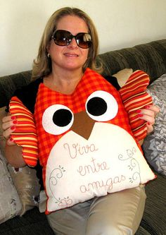 OMG the biggest owl pillow, have have have to make this!  - Coruja by flavia_sm1963, via Flickr