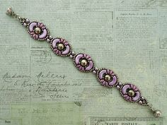 Linda's Crafty Inspirations: Bracelet of the Day: Tweaked Jolie Band - Pastel Lilac & Silver