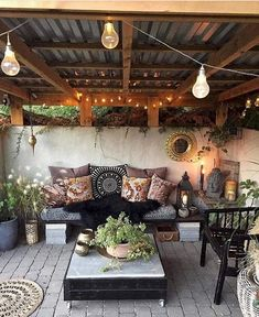So a client sent this to me as an inspo for their backyard patio design. They wa… - Backyard Designs Outdoor Rooms, Outdoor Decor, Outdoor Patio Decorating, Lanai Decorating, Rustic Outdoor Spaces, Outdoor Living Patios, Outdoor Hammock, Outdoor Cafe, Garden Design