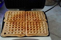 Clean waffles. No more packaged waffles for breakfast! Freeze the leftovers for up to 4 months!