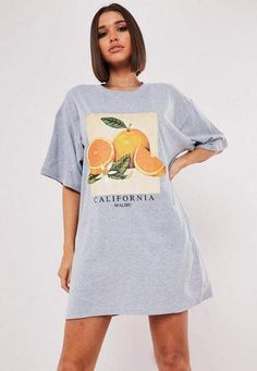 Missguided - Grey Oversized Orange Graphic T Shirt Dress - - Grey Oversized Orange Graphic T Shirt Dress Source by Oversized Graphic Tee, Oversized T Shirt Dress, Casual Outfits, Cute Outfits, Fashion Outfits, Big Shirt Outfits, Outfits Con Camisa, Shirts For Girls, Big Shirts