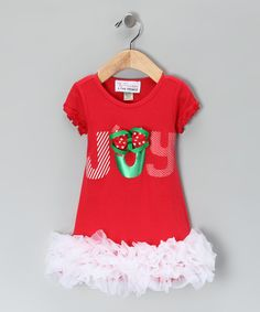 Take a look at this The Princess and the Prince Red 'Joy' Ruffle Dress - Infant, Toddler & Girls on zulily today!