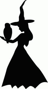 Silhouette Online Store: witch with owl