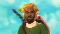 Kanye West getting on his Kanye Quest