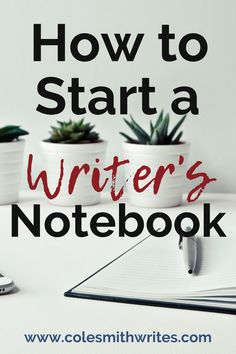 If you want to keep better track of your ideas, or get serious about regular creative brainstorming sessions, here's how to start a writer's notebook: Writing Notebook, Book Writing Tips, Writing Resources, Start Writing, Writing Skills, Writing Prompts, Writing Ideas, Writing Humor, Memoir Writing