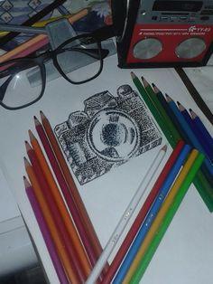#Câmera #Pontilhismo #Arte para #Tattoo