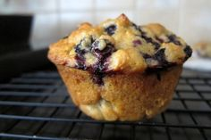 No sugar blueberry muffin.  Made these last night and snuck some zucchini in for the little one.  They turned out great.  I put a little plain greek yogurt on it to make it even more appetizing for him.  He was pleased!