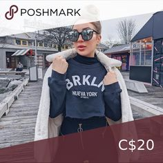 Shop Women's size M Crew & Scoop Necks at a discounted price at Poshmark. Cropped Sweater, Brooklyn, Scoop Neck, Sweaters For Women, Crew Neck, Best Deals, Closet, Things To Sell, Black
