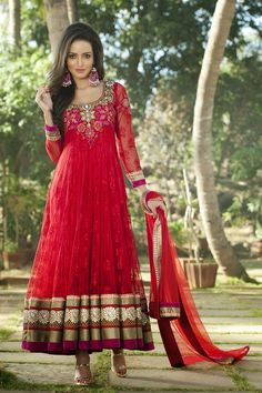 Fashion: New Designs of Glamorous Long Anarkali Suits Collection 2014 For Girls
