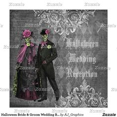 Halloween Bride & Groom Wedding Reception Only