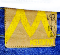 etiqueta de cintura para jean 2 colores.