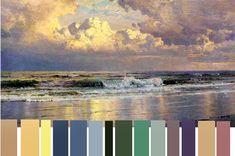 art apprentice:  color tips for painting seascapes & marine paintings--working with a limited palette (suggestions for acrylics + mixing of colors)