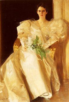 Anders Zorn (1860 - 1920) - Portrait of Mrs Eben Richards