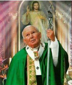 Paul 2, Pope John Paul Ii, Pape Jeans, Juan Pablo Ll, Lady Of Fatima, Religious Pictures, Catholic Saints, Pope Francis, Madonna