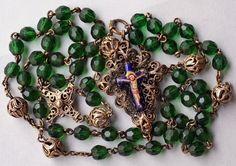 Gold Rosary | Antique Rosary, Antique Rosary Beads