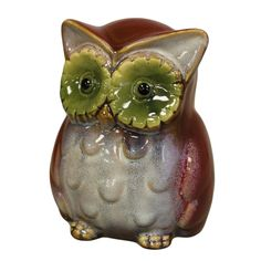RUSTIC OWL Ceramic pottery Piggy bank MONEY BOX animal  BIRD Christmas GIFT cute SALE £11.99