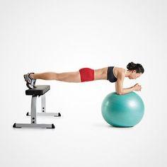 plank on a swiss ball