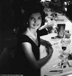 67249ce56f31 Not originally published in LIFE. Jackie Kennedy during a campaign dinner,