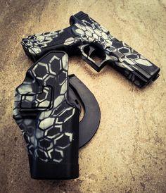 CYMA G18c Glock with custom Kryptek Typhon.  Did this paint job on my airsoft pistol.
