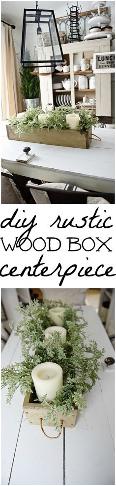 Check out how to make a DIY rustic wood box centerpiece @istandarddesign