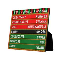 7 Principles of Kwanzaa Plaque. Designer Kwanzaa products created by a Zazzle artist. More on my board. 7 Principles Of Kwanzaa, Happy Kwanzaa, Kwanzaa 2017, African American Culture, Holidays Around The World, Winter Crafts For Kids, Crisp Image, Winter Holidays, Happy Holidays