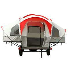 Lifetime® Tent Trailer Kit - Sam's Club    It's a trailer used for hauling that converts to a tent trailer in minutes.  It's more of a tent on a trailer, than a camper, but it's still pretty cool.