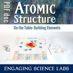 Periodic Table of Elements Activity:Atomic Structure and the Periodic Table Game Chemistry Classroom, Teaching Chemistry, Science Chemistry, Teaching Time, Physical Science, Science Education, Science Labs, Chemistry Lessons, Science Lessons