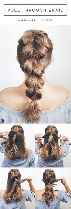 pull through braid tutorial with shorter hair