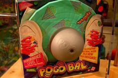 Pogo ball is whatcha call it when you really want to have a ball! I think mine was yellow with a green disc.