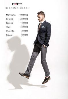 Stylizacja Giacomo Conti: Marynarka MARCO 2 14/06 MB, Spodnie FABIO 06/11, Koszula RICCARDO 15/05/34-K, Buty 2703.