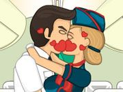 Free Online Girl Games, The pilot and the flight attendant have fallen in love and now they want to sneak in a few kisses before takeoff in Kiss in the Airplane!  Help the attendant and the pilot make out for a few minutes without any of the passengers noticing!  You'll have to keep a close eye on each passenger because you don't want anyone to lose their job!, #kissing #romance