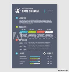 Professional Cv Resume Template Of Two Pages A Formate  Buy