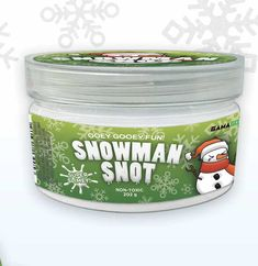 SNOWMAN SNOT by GamaGo When the weather gets cold, noses run and why should humans have all the fun? Snowman snot is ooey and gooey, slippy and drippy. You'll be surprised at how satisfying snot can be! Coffee Cans, Feel Good, Fun Stuff, Snowman, Weather, Cold, Make It Yourself, Canning, Holiday