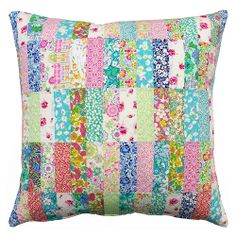 Liberty Patchwork Pillow Cover by Red Pepper Quilts