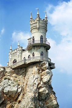Favorite Places & Spaces / Castles in Ukraine- This one is called Swallows Nest and built on a cliff
