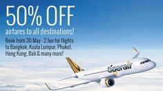 TigerAir 50% Off Return Fares(ONLY NTUC Plus! Cardmembers) from 30 May  2 Jun 2016    NTUC plus! cardmembers enjoy 50% OFF Tigerair exclusive airfares to ALL destinations from 30 May to 2 June with all-in return fares starting from $52! Simply book with your NTUC card to enjoy the following special fares:  Destination  Travel Start  Travel End  Outbound(SGD)  Inbound(SGD)  All-in Return(SGD)  Bangkok  8-Jul-2016  1-Oct-2016  55  51  106  Bengaluru  11-Jul-2016  30-Sep-2016  115  118  233…