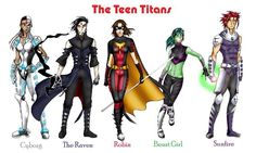 Teen Titans gender reversal   This is actually pretty cool