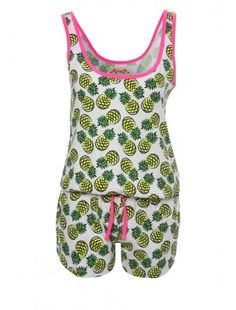 Cutesy and fun, this playsuit is perfect for those who want something a bit different. Comfy and sleeveless, the short-legged style means you can stay cool t. Playsuit, Nightwear, All In One, Onesies, Rompers, Comfy, Yellow, My Style, How To Wear