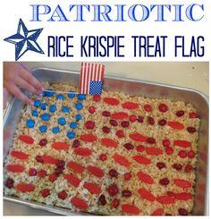patriotic rice krisp