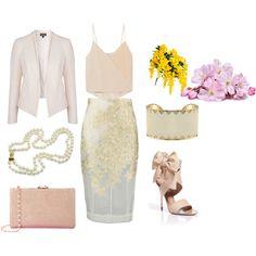 #double #collar #blazer #silk #top #high #waist #skirt #nude #sandals