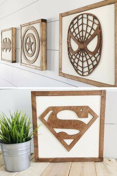 SUPERHEROS!!!!!! Oh my I LOVE this!! My little man would freak!! #superheros #affiliate #boyroom #decor