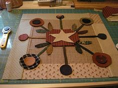 Applique Method.  This is a pattern by Lynda Hall.  I made a full size quilt out of this pattern