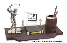 upto 65% off  Golf #DesktopOrganizer WASCBJLG10250 http://woodartsuniverse.com/catalog/product_info.php?products_id=445