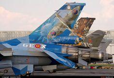 Photo ID 158138 by Alexandru Chirila. Belgium Air Force General Dynamics F Fighting Falcon, FA 110 F 16 Falcon, Post War Era, Aircraft Painting, Aircraft Photos, Nose Art, Aviation Art, Air Show, Military Art, Strength
