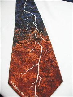 EAGLES WINGS LIGHTENING STORM Neck TIE 100% Silk Necktie | eBay