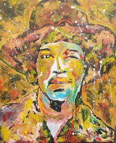 Jimi Hendrix Acrylic on canvas 60x50